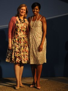 Sarah Brown and Michelle Obama; Crown copyright